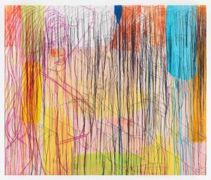 Lady In Purple-RFGA by Ghada Amer contemporary artwork