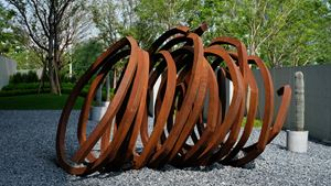 Three Indeterminate Lines by Bernar Venet contemporary artwork
