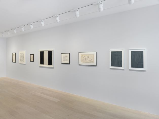 Exhibition view: Group exhibition, A line (a)round an idea Selected Works on Paper, Gagosian, Geneva (2 May—27 July 2019). Artwork © Artists and Estates. Courtesy Gagosian. Photo: Annik Wetter.