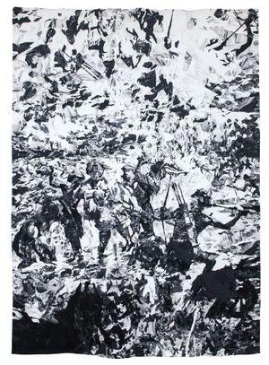 Death of Magellan (After Amorsolo) by Patricia Perez Eustaquio contemporary artwork