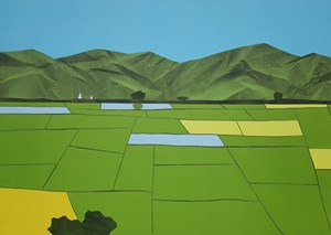 Green Field by Min Zaw contemporary artwork