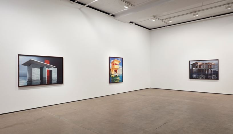Exhibition view: James Casebere,On the Water's Edge, Sean Kelly, New York (13 December 2019–25 January 2020). Courtesy Sean Kelly, New York.Photo: Jason Wyche, New York.