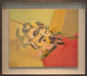 Reclining Head of Julia II by Frank Auerbach contemporary artwork