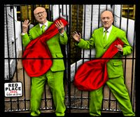 RED PLACE by Gilbert & George contemporary artwork mixed media