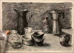 Still Life with Black Jug II (Drawing from a Natural History of the Studio) by William Kentridge contemporary artwork