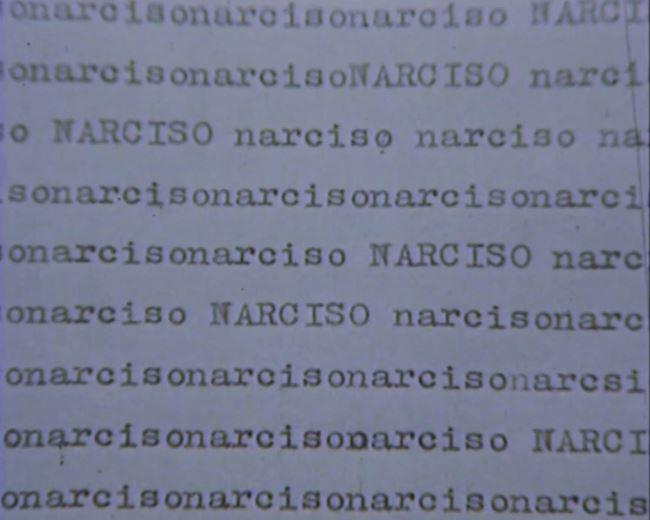 Narciso, film esperienza [Narcissus, film experience] by Marinella Pirelli contemporary artwork