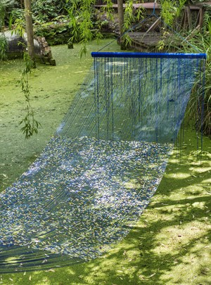 Hammock (for A. Martin) by Sarah Sze contemporary artwork