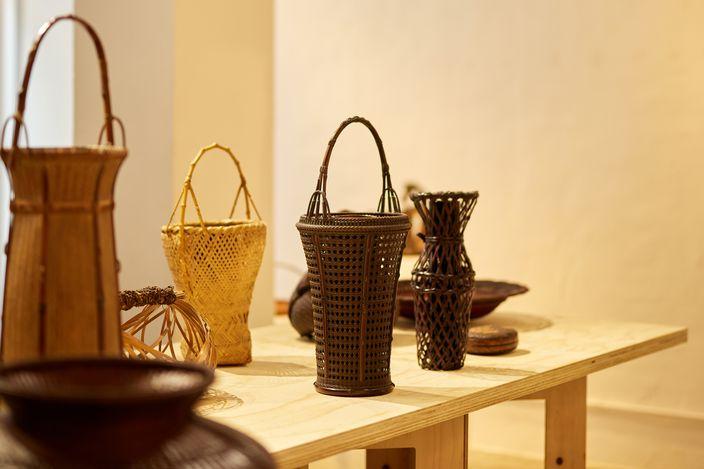 Exhibition view: Japanese Bamboo Baskets, overseen by Masamitsu Saito, SHOP Taka Ishii Gallery, Hong Kong (18 May–27 June 2021). Courtesy SHOP Taka Ishii Gallery. Photo: Anthony Kar Long Fan.
