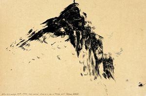 Autour de la montagne Sainte-Victore, Monti Venturi, étude no.6 by Fabienne Verdier contemporary artwork