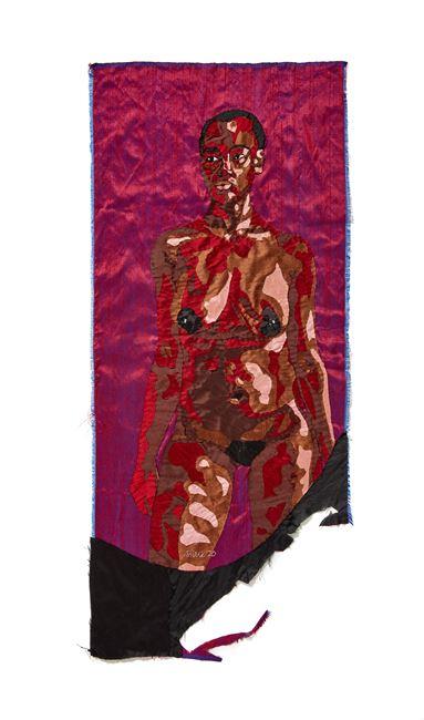 Am I enough? by Billie Zangewa contemporary artwork