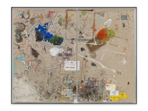 Tischmatte Bali (from office table) by Dieter Roth contemporary artwork mixed media