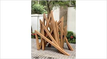 Contemporary art exhibition, Bernar Venet, ASHK x HKAGA Sculpture Exhibition at de Sarthe, Hong Kong