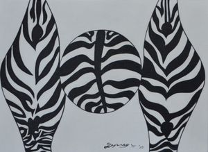 The Infinity of Black and White by Go Yayanagi contemporary artwork