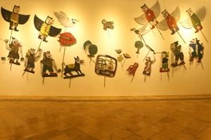 Momotaro by Heri Dono contemporary artwork installation