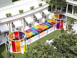 True colours: artist Daniel Buren's kaleidoscopic takeover at Paris' Le Bristol hotel