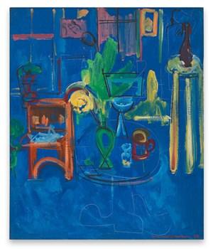 Green Vase on Blue by Hans Hofmann contemporary artwork