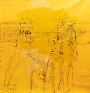 Nicholas, Ubahn yellow by Gareth Ernst contemporary artwork