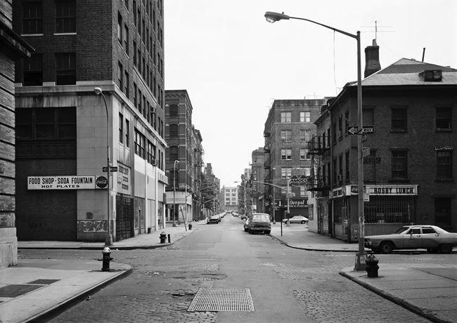 Prince Street at Crosby Street, New York 1978 by Thomas Struth contemporary artwork