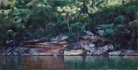 Kindred Bay, Smiths Creek (Hawkesbury 14) by A.J. Taylor contemporary artwork painting