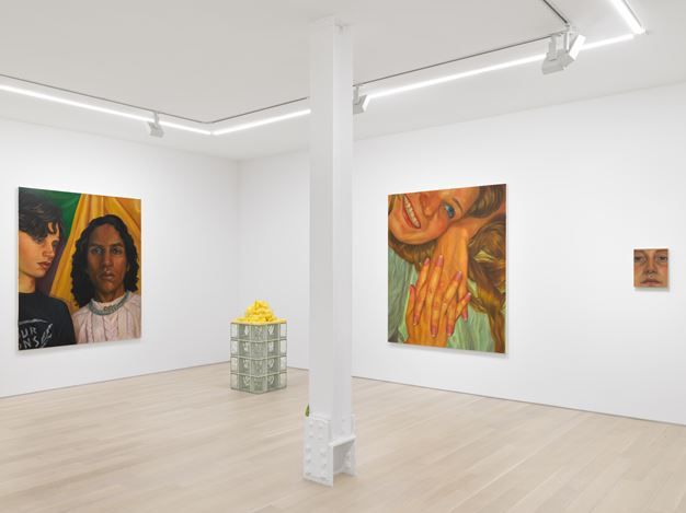 Exhibition view: Chloe Wise, Thank You For The Nice Fire, Almine Rech, New York (4 March—17 April 2021). Courtesy The Artist and Almine Rech. Photo: Dan Bradica.