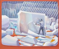 The Quarry by Yu Guo contemporary artwork painting