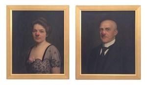 Mann und Frau mit roter Nase by Hans-Peter Feldmann contemporary artwork painting