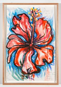 the flowers are in bloom by Del Kathryn Barton contemporary artwork works on paper