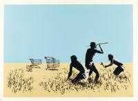 Trolleys by Banksy contemporary artwork print