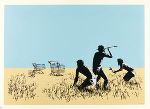 Trolleys by Banksy contemporary artwork