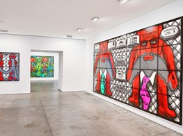 "Gilbert & George<br><em>THE BEARD PICTURES</em><br><span class=""oc-gallery"">Lehmann Maupin</span>"