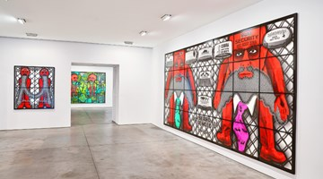Contemporary art exhibition, Gilbert & George, THE BEARD PICTURES at Lehmann Maupin, New York