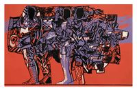 Emigrants by Dia Al-Azzawi contemporary artwork painting, print