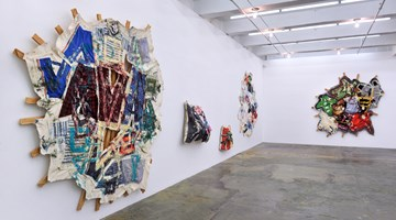 Contemporary art exhibition, Mike Cloud, Quilt painting at Thomas Erben Gallery, New York
