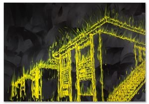 Row House Uprising by Gary Simmons contemporary artwork
