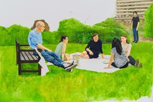 Summer Dinner by Zhu Jia contemporary artwork