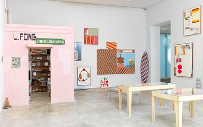 Exhibition view: Barry McGee, Cheim & Read, New York (4 January–17 February 2018). Courtesy Cheim & Read, New York.