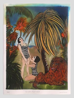 The sisters of paradise by Marcel Dzama contemporary artwork