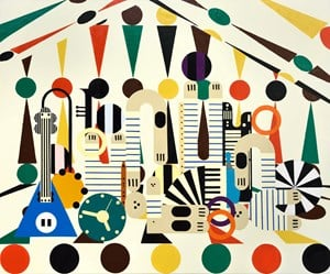 Circus 2 by Farah Atassi contemporary artwork