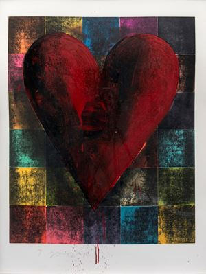 Red Darkness by Jim Dine contemporary artwork