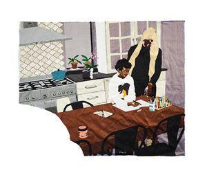 Heart of the Home by Billie Zangewa contemporary artwork