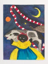 Black Doll in Mystic Space by Betye Saar contemporary artwork painting