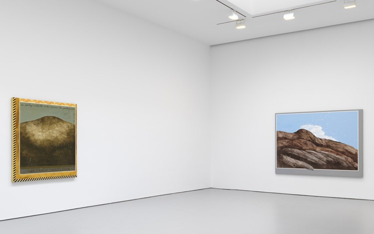 Exhibition view: Llyn Foulkes, Solo Exhibition, David Zwirner, 19th Street, New York (29 April–24 June 2017). Courtesy David Zwirner, New York.