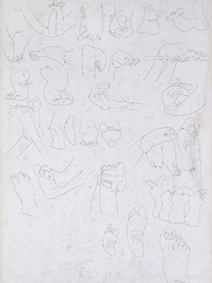Drawings of Feet by Song Ta contemporary artwork