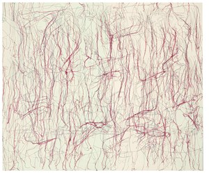 Julia's Pink by Ghada Amer contemporary artwork