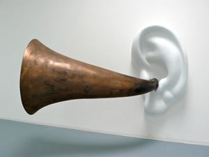Beethoven's Trumpet (with Ear) Opus # 127, 130, 131, 132, 133, 135 by John Baldessari contemporary artwork