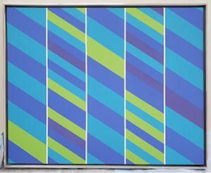 Blue Slant 1 by James Little contemporary artwork painting