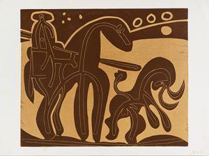 Picador et taureau by Pablo Picasso contemporary artwork