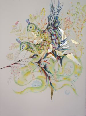 The Tree Of Sorrow: A Pandemic Universe by Soe Yu Nwe contemporary artwork