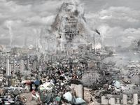 The Tower of Babel - Pollution by Du Zhenjun contemporary artwork photography