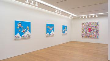 Contemporary art exhibition, Takashi Murakami, Superflat Doraemon at Perrotin, Tokyo, Japan